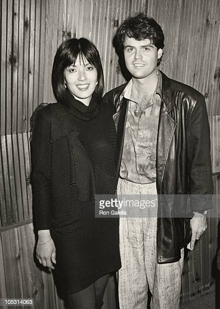 Karen Kamon and Donny Osmond during Interview for Childrens Miracle Network Telethon at The Hit Factory in New York City New York United States