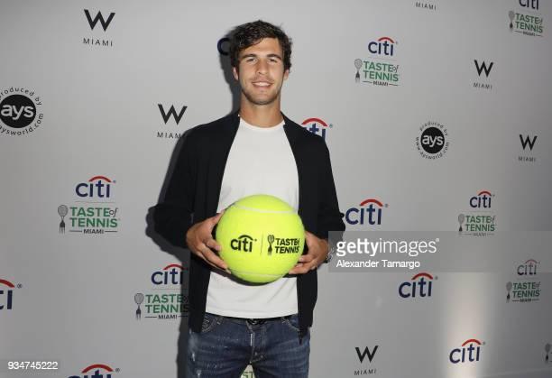 Karen Khachanov attends the Citi Taste Of Tennis Miami 2018 at W Miami on March 19 2018 in Miami Florida