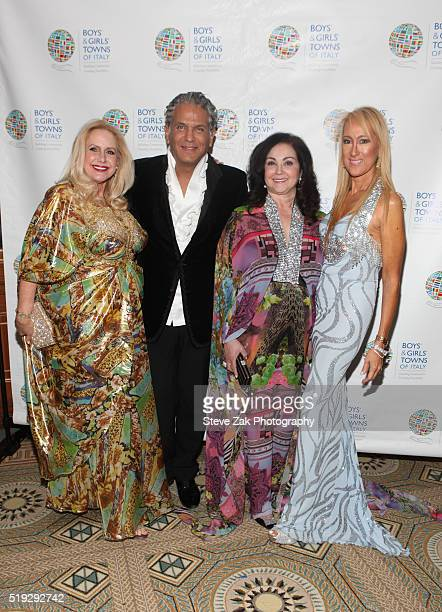 Karen King Carlos Arturo Zapata Bernadette Milito and Contessina Francesca Braschi attend The Boys' Girls' Towns of Italy's 2016 New York Spring Ball...