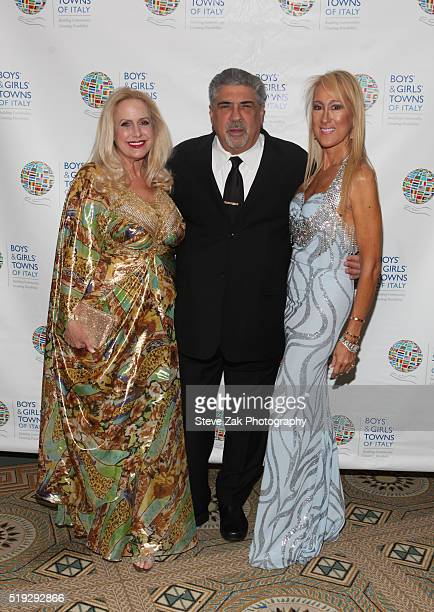 Karen King Vincent Pastore and Contessina Francesca Braschi attend The Boys' Girls' Towns of Italy's 2016 New York Spring Ball at The Pierre Hotel on...
