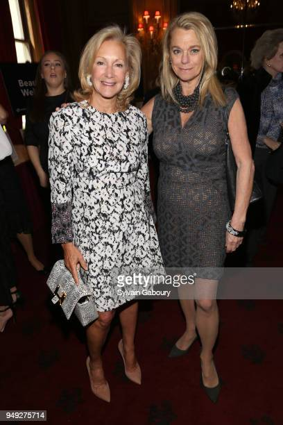 Karen Klopp and Debbie Bancroft attend Madison Square Boys Girls Club 2018 Salute to Style luncheon at Metropolitan Club on April 18 2018 in New York...