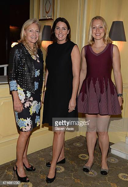 Karen Klopp Martha O'Brien Lamphere and Zoe Bullock attend High Tea High Fashion with Dennis Basso benefiting New York Botanical Garden at Hotel...