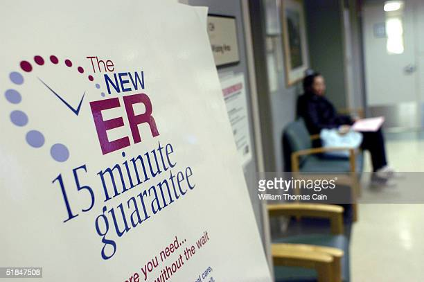 Karen Koehler of Lansdale waits in the Emergency Room at Central Montgomery Medical Center December 10 2004 in Lansdale Pennsylvania Central...