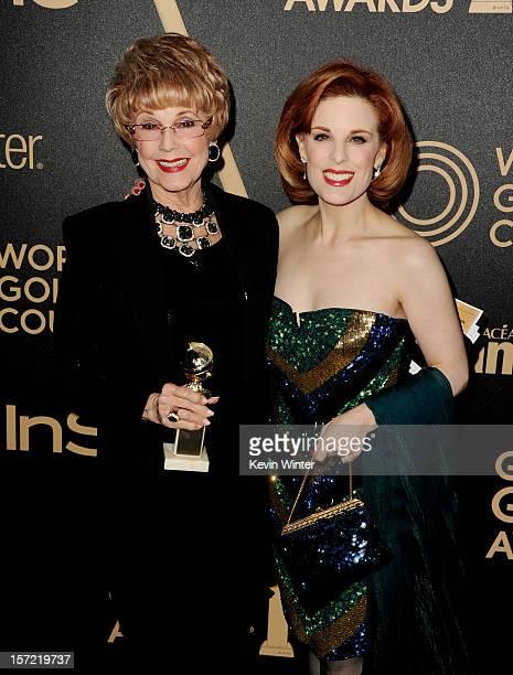 Karen Kramer and Kat Kramer arrive at the Hollywood Foreign Press Association's and In Style's celebration of the 2013 Golden Globes Awards Season at...