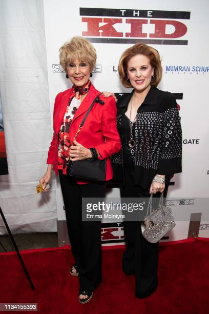 Karen Kramer and Kat Kramer arrive at the premiere of Lionsgate's 'The Kid' at ArcLight Hollywood on March 06 2019 in Hollywood California