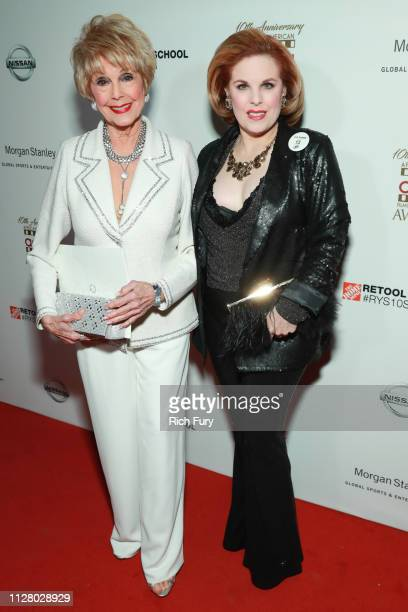 Karen Kramer and Kat Kramer attend the 10th Annual AAFCA Awards at Taglyan Complex on February 06 2019 in Los Angeles California