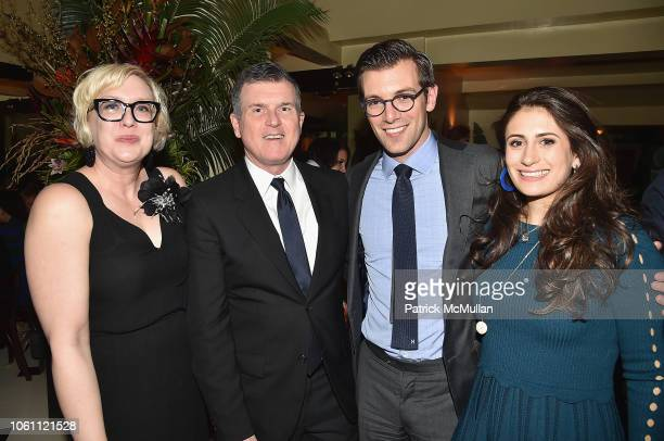 Karen Lautanen Patrick Moore Jeremy Leventhal and Caroline Leventhal attend The Andy Warhol Museum's Annual NYC Dinner at Indochine on November 12...