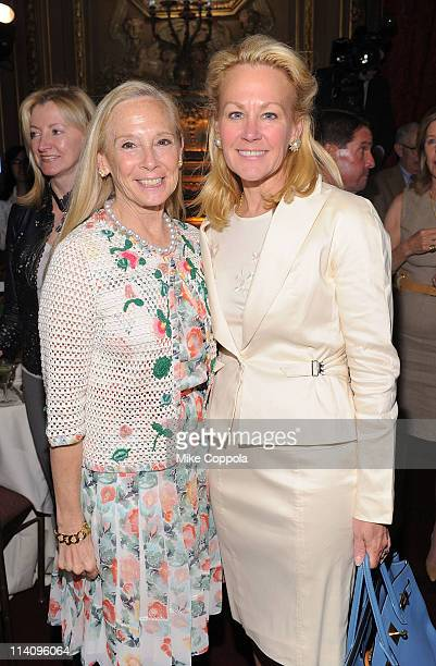 Karen LeFrak and Muffie Potter Aston attend City Harvest's 7th Annual On Your Plate luncheon featuring bestselling author Jill Kargman at...