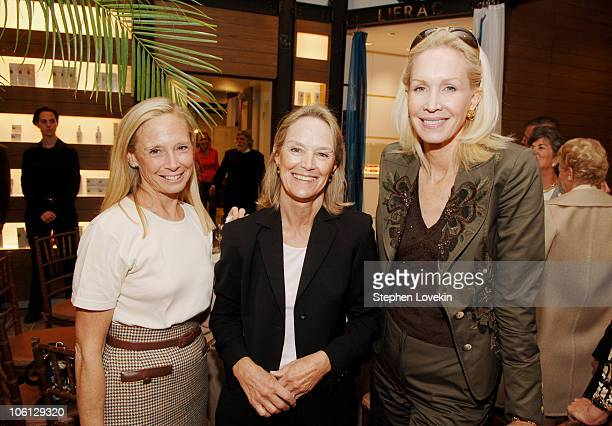 Karen LeFrak Jane Bunn and JoAnne DeGuardiola during Conservation Coalition Luncheon at Phyto Universe at Phyto Universe in New York City NY United...