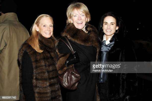 Karen LeFrak Suzanne Cochran and Bonnie Pope attend The CENTRAL PARK CONSERVANCY Annual Skating Party at Wollman Rink on January 20 2009 in New York...