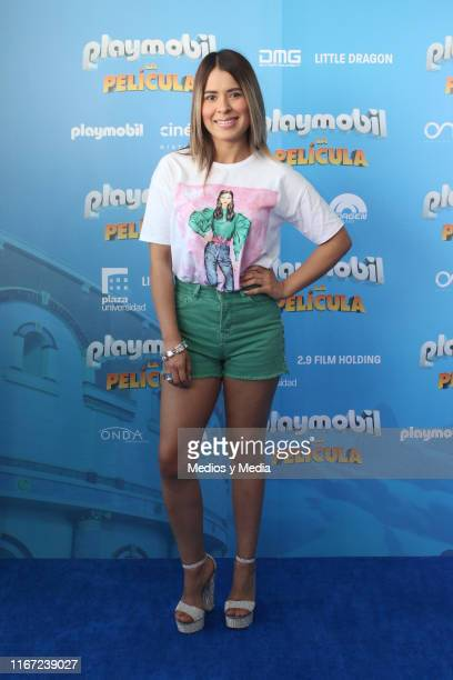 Karen Luna poses for photos during the premiere of the film Playmobil at Cinepolis Universidad on August 10, 2019 in Mexico City, Mexico.
