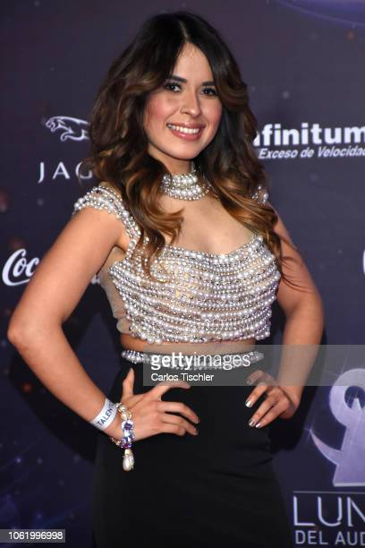 Karen Luna poses for photos on the red carpet before the XVII Lunas del Auditorio award ceremony at Auditorio Nacional on October 31 2018 in Mexico...