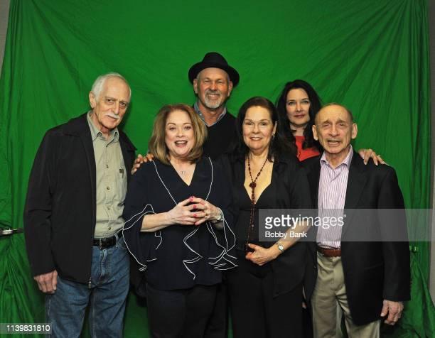 Karen Lynn Gorney Donna Pescow Martin ShakarPaul Pape Lisa Peluso and Bert Michaels of Saturday Night Fever attends the Chiller Theatre Expo Spring...