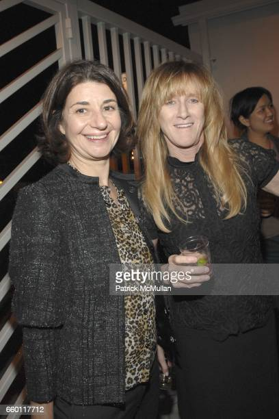 Karen Marta and Kristen McKenna attend SHE Images of women by Wallace Berman and Richard Prince Opening at Michael Kohn Gallery on January 15 2009 in...