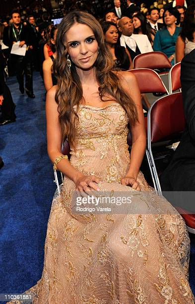*EXCLUSIVE* Karen Martine poses backstage at the 9th Annual Latin GRAMMY Awards held at the Toyota Center on November 13 2008 in Houston Texas