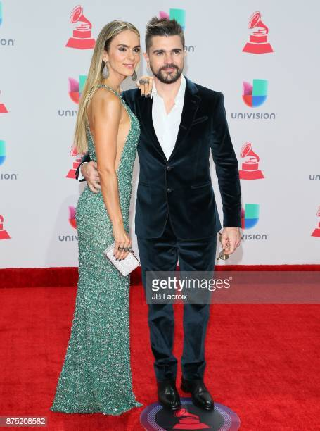 Karen Martinez and Juanes attend the 18th Annual Latin Grammy Awards on November 16 2017 in Las Vegas Nevada