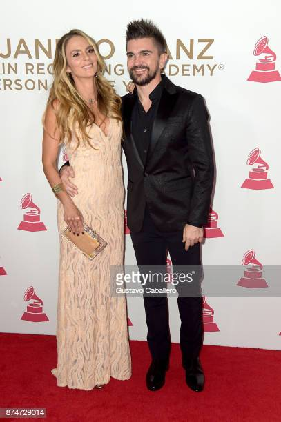Karen Martinez and Juanes attend the 2017 Person of the Year Gala honoring Alejandro Sanz at the Mandalay Bay Convention Center on November 15, 2017...