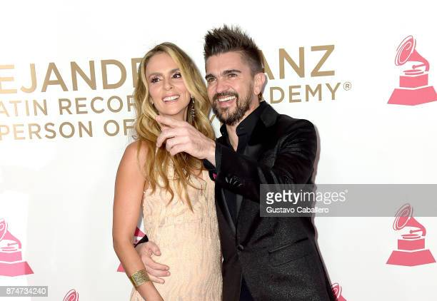 Karen Martinez and Juanes attend the 2017 Person of the Year Gala honoring Alejandro Sanz at the Mandalay Bay Convention Center on November 15 2017...