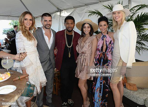 Karen Martinez Juanes Usher Raymond Vanessa Hudgens Emmanuelle Chriqui and Karolina Kurkova attend The Inaugural $12 Million Pegasus World Cup...