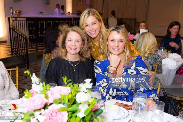 Karen May Melanie Charlton Fowler and Allison Aston attend Central Park Conservancy's 2020 Winter Luncheon at 583 Park Avenue on January 29 2020 in...