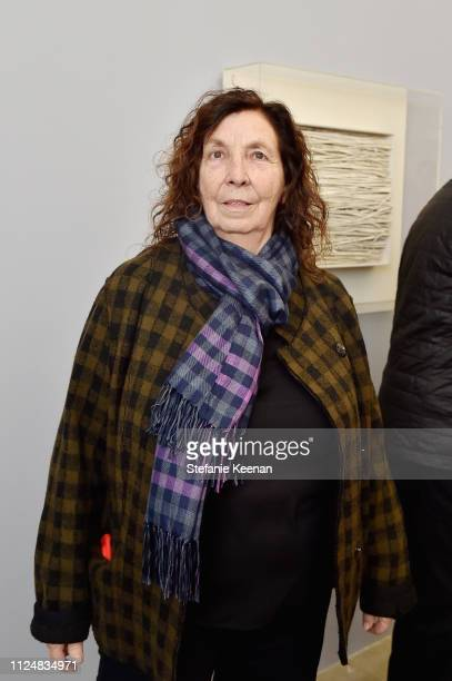 Karen McCarthy attends Hauser Wirth Los Angeles Opening of Annie Leibovitz and Piero Manzoni and Musical Performance by Patti Smith at Hauser Wirth...