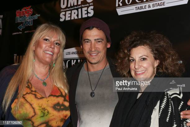 Karen McCullah Andrew Keegan and Kirsten Kiwi Smith attend the unauthorized musical parody of '10 Things I Hate About You' at Rockwell Table and...