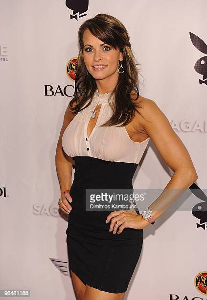 Karen McDougal attends Playboy's Super Saturday Night Party at Sagamore Hotel on February 6 2010 in Miami Beach Florida