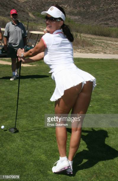 Karen McDougal during 7th Annual Playboy Golf Scramble Championship Finals at Lost Canyons Golf Club in Simi Valley California United States