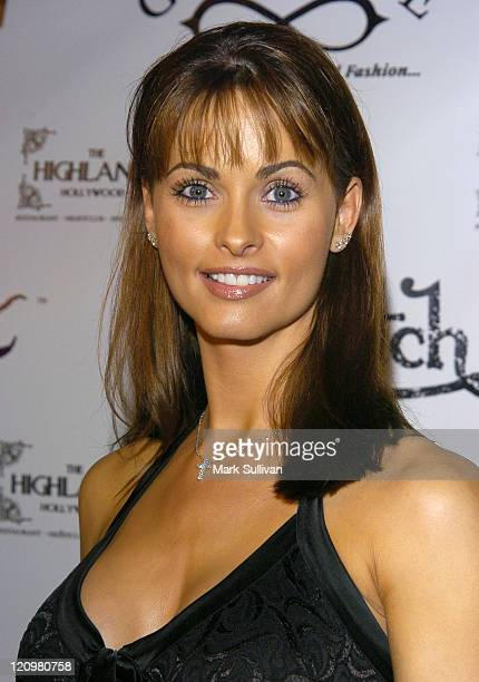 Karen McDougal during Dennis Rodman's 43rd Birthday Party at The Highlands in Hollywood California United States