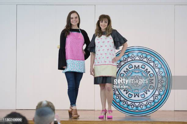 Karen Meyer and a student attend the Marisol Deluna Foundation Community Fashion Show at the San Antonio Garden Center on February 16 2019 in San...