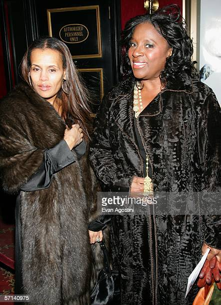 Karen MillardMorris wife of musician Stevie Wonder and LaTonya Richardson wife of Samuel L Jackson attends Universal Pictures' premiere of The Inside...