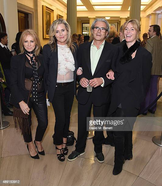Karen Millen Deb Curtis Paul Pullinger and Anna Winslet attend the Sorapol Spring/Summer 2016 London Fashion Week Show at The Royal College of...