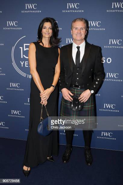 Karen Minier and David Coulthard attend the IWC Schaffhausen Gala celebrating the Maisons 150th anniversary and the launch of its Jubilee Collection...