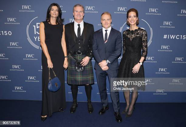Karen Minier David Coulthard Valterri Bottas and Franziska Gsell attend the IWC Schaffhausen Gala celebrating the Maisons 150th anniversary and the...