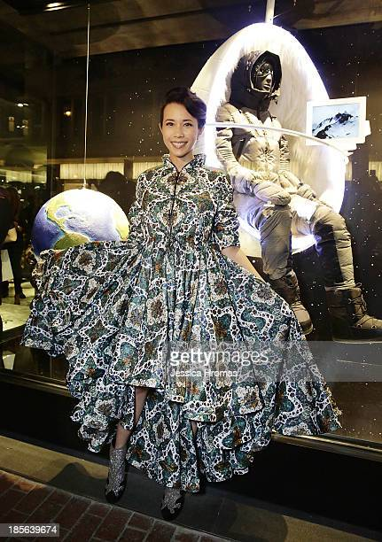 Karen Mok attends the opening of the Lee Gardens Moncler store on October 23 2013 in Causeway Bay Hong Kong