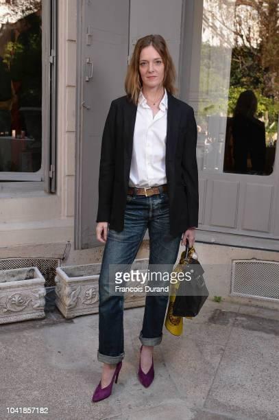 Karen Moran attends the Roger Vivier Presentation Spring/Summer 2019 during Paris Fashion Week on September 27 2018 in Paris France