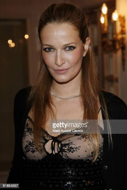 Karen Mulder attends the Etam fashion show at the Ritz Hotel on February 5 2009 in Paris France
