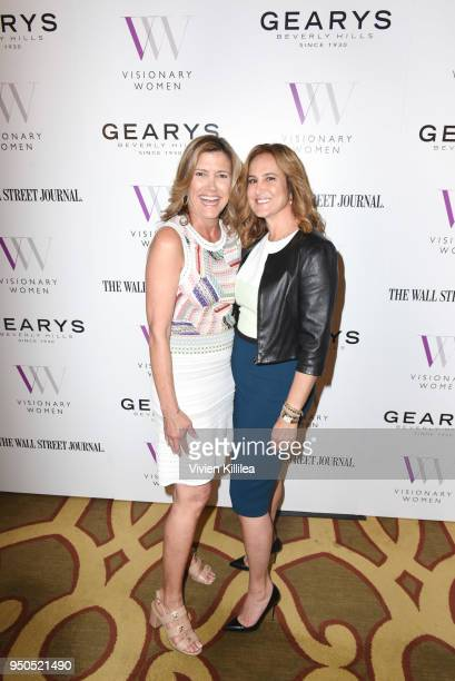 Karen Murphy O'Brien and Nina Kotick attend Visionary Women Presents The New Normal How Social Media is Reshaping Your Life at The Montage on April...