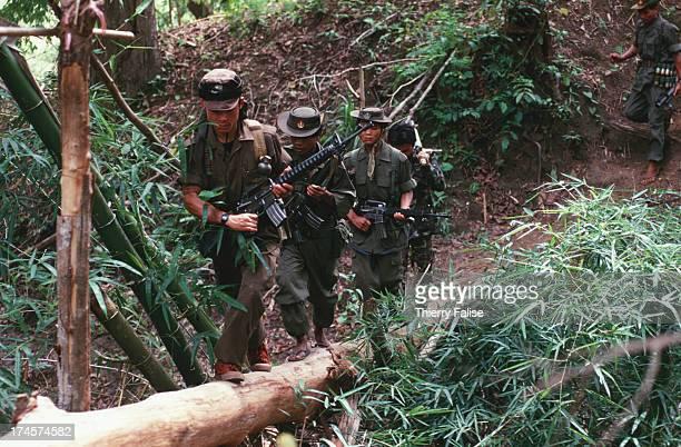 Karen National Union soldiers on patrol