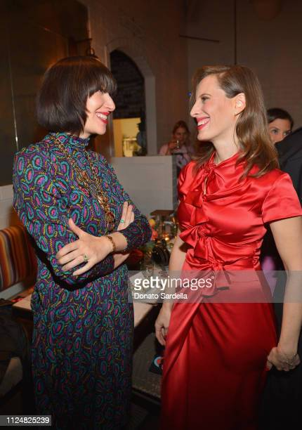 Karen O and Liz Goldwyn attend Liz Goldwyn and MATCHESFASHIONCOM celebrate the launch of Frieze LA at Gracias Madre on February 13 2019 in West...