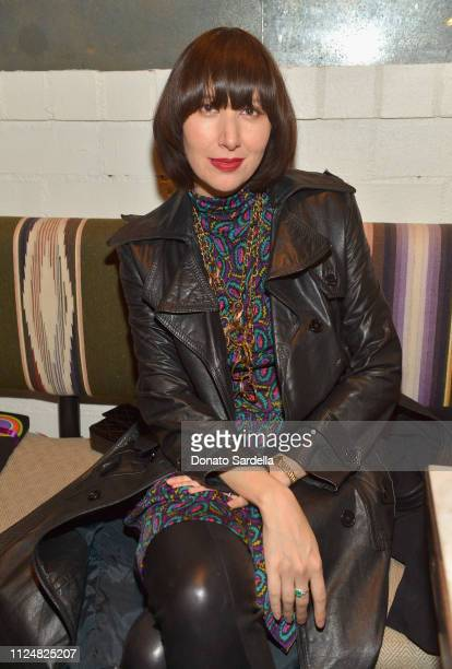 Karen O attends Liz Goldwyn and MATCHESFASHIONCOM celebrate the launch of Frieze LA at Gracias Madre on February 13 2019 in West Hollywood California