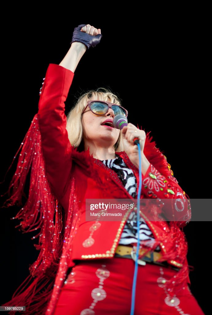 Karen O from Yeah Yeah Yeahs performs live on stage at Big Day Out 2013 on January 20, 2013 in Gold Coast, Australia.