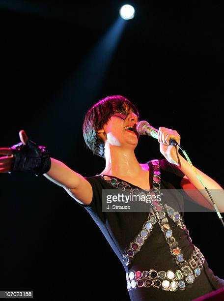 Karen O of The Yeah Yeah Yeahs during 2006 San Diego Street Scene Day 2 at Qualcomm Stadium in San Diego California United States