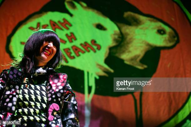 Karen O of the Yeah Yeah Yeahs performs live at the 3Arena Dublin on May 23, 2018 in Dublin, Ireland.