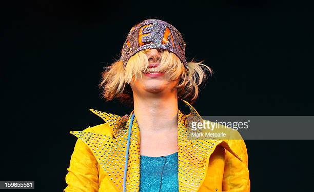 Karen O of Yeah Yeah Yeahs performs live on stage at Big Day Out 2013 at Sydney Showground on January 18 2013 in Sydney Australia