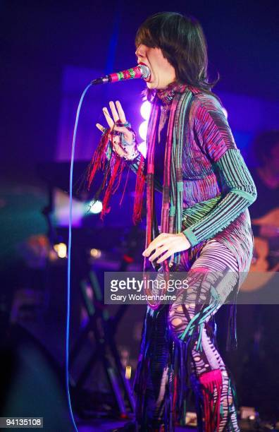 Karen O of Yeah Yeah Yeahs performs on stage at O2 Academy on December 7 2009 in Sheffield England