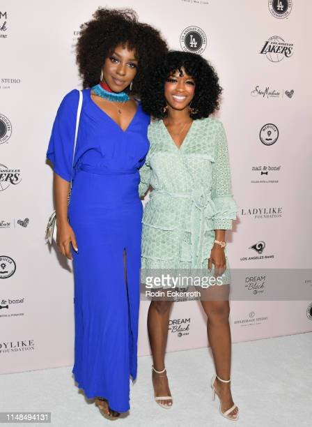 Karen Obilom and Javicia Leslie attend The LadyLike Foundation's 11th Annual Women of Excellence Luncheon at The Beverly Hilton Hotel on May 11 2019...
