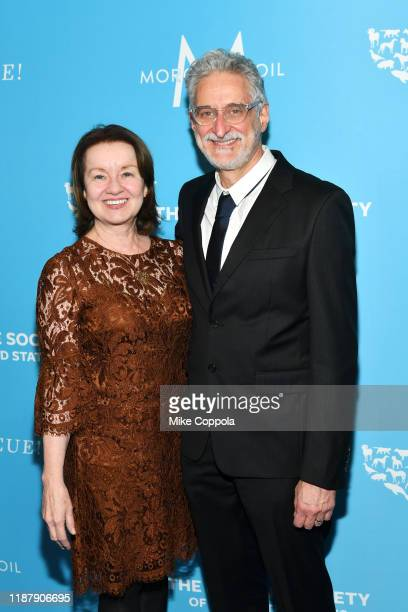 Karen O'Connell and Patrick McDonnell arrive to the Humane Society Of The United States To The Rescue New York Gala 2019 at Cipriani 42nd Street on...