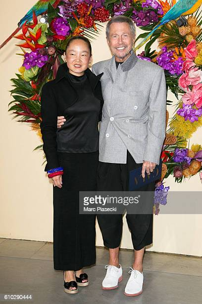 Karen Park and JeanPaul Goude attend the Opening Gala Season at Opera Garnier on September 24 2016 in Paris France