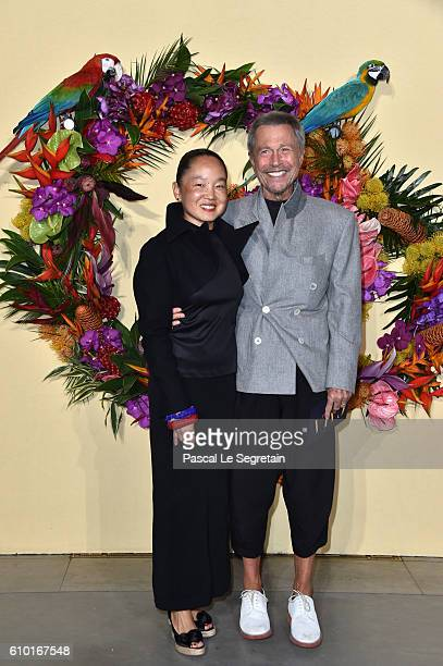 Karen Park Goude and JeanPaul Goude attend the Opening Season Gala at Opera Garnier on September 24 2016 in Paris France